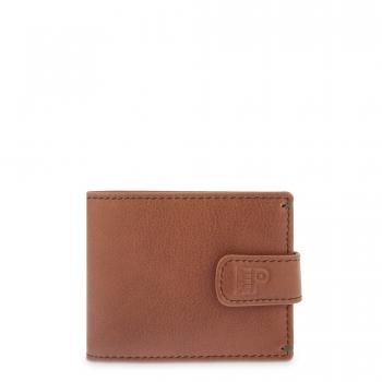 Cartera billetera con monedero interior hombre en piel vacuno color cuero - Apache