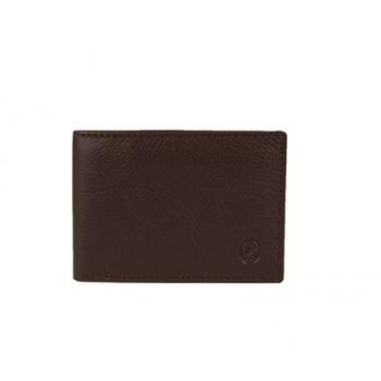 Cartera billetera monedero piel vacuno marrón-El Potro