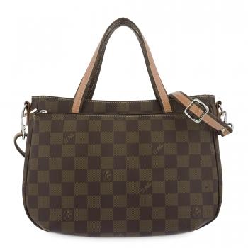 Bolso Tote mujer en lona color marrón- Chess