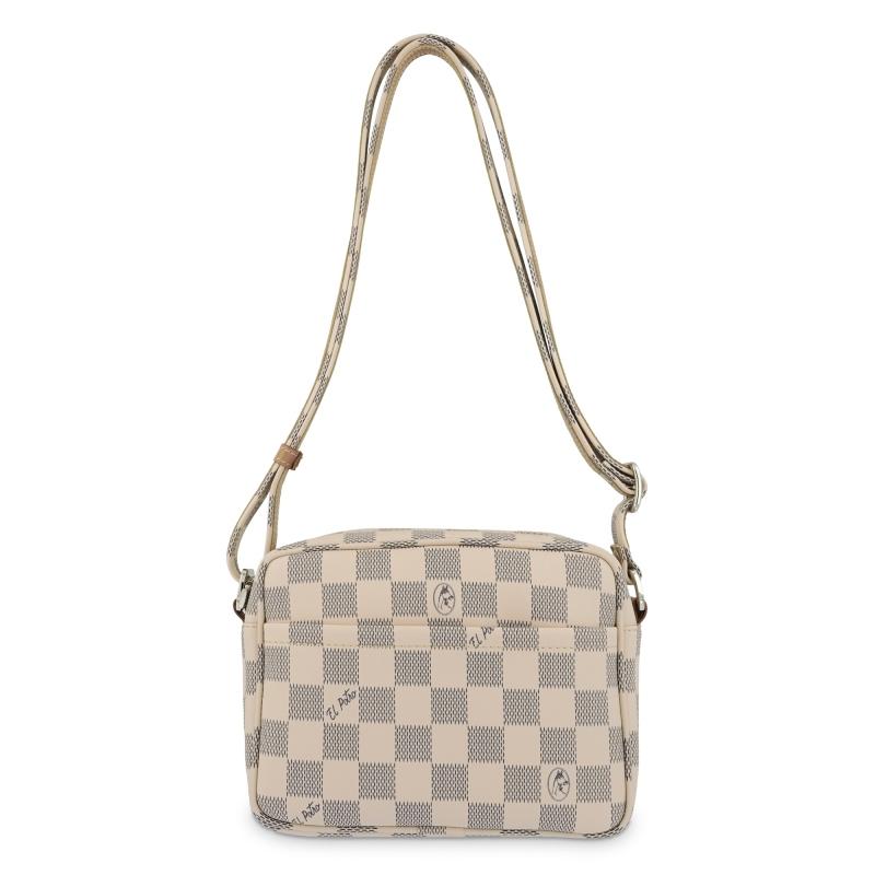 Bolso Bandolera mujer en lona color marrón-Chess