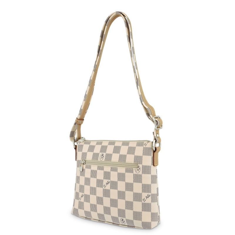 Bolso Bandolera mujer en lona color beige-Chess