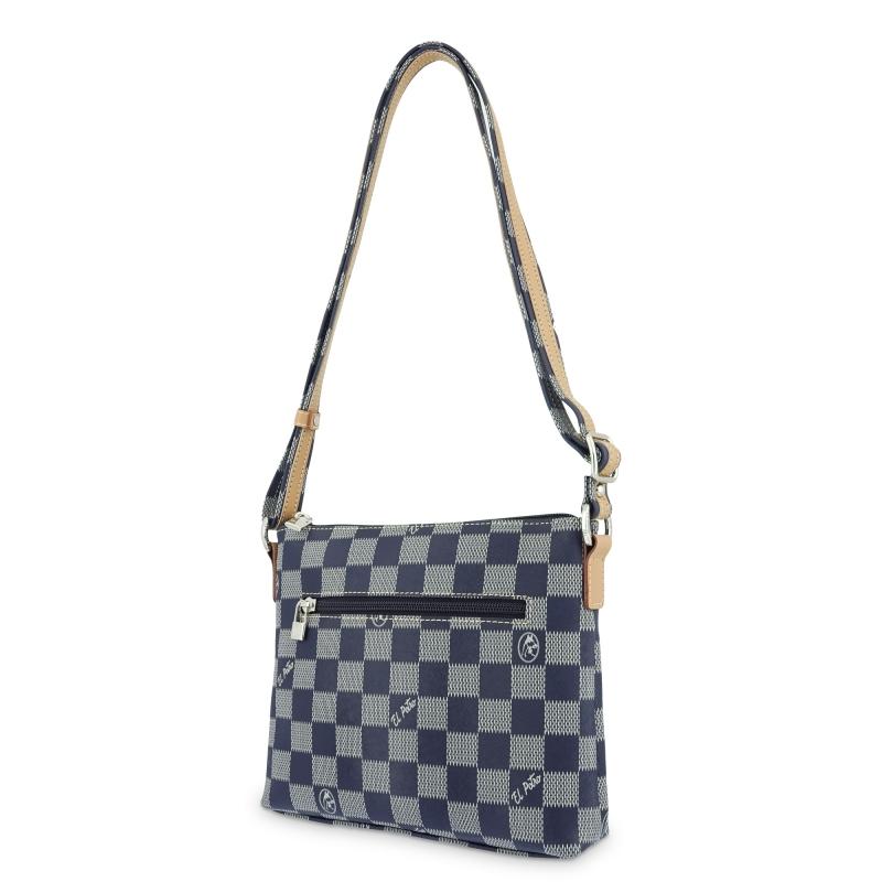 Bolso Bandolera mujer en lona color azul-Chess