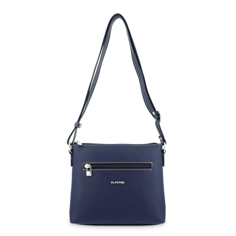 Bolso Bandolera mujer en lona color azul-Angula