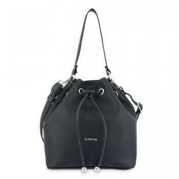 Bolso Saco mujer en lona color negro- Angula