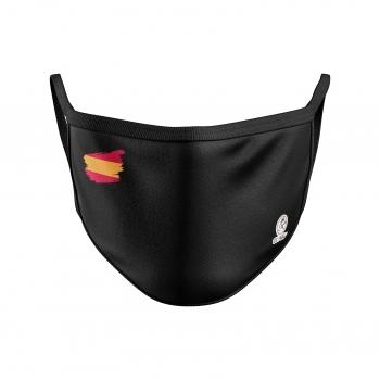 Mascarilla unisex adulto lavable en negro-bandera-El Potro