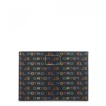 Funda solapa broche para mascarilla negro multicolor-El Potro