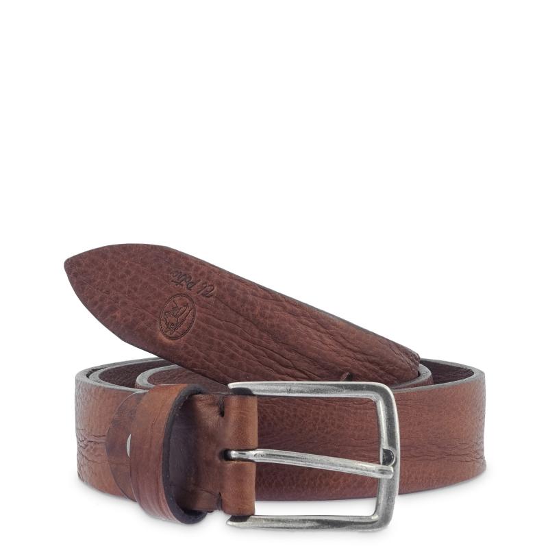 Cinturón hombre en piel vacuno vegertal color cuero- Box