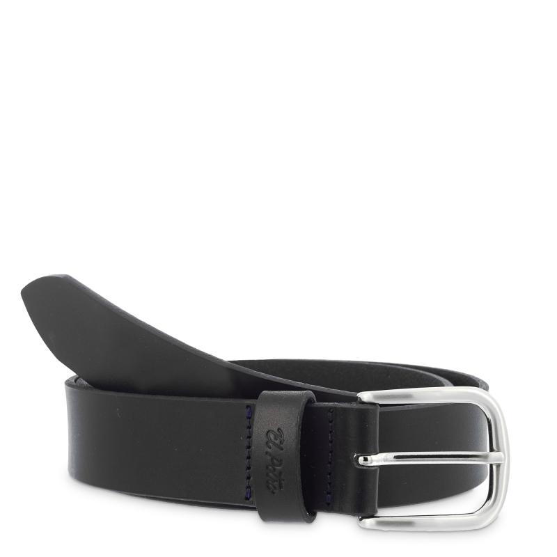 Cinturón hombre sport en piel vacuno color negro- Box