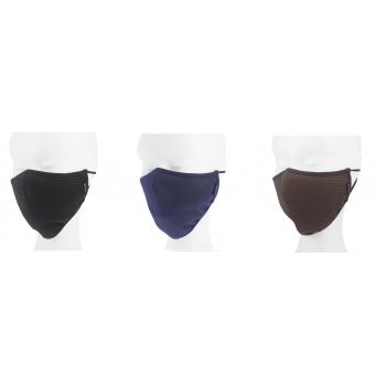 Mascarilla homologada unisex adulto lavable en negro-El Potro