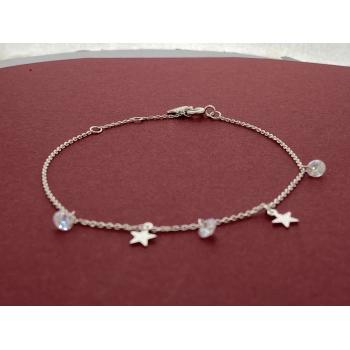 Pulsera ajustable ajustable de plata 925-STAR