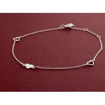 Pulsera ajustable ajustable de plata 925-CUORE