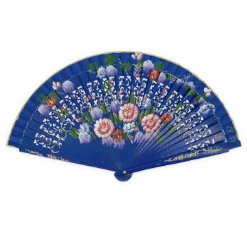 Abanico azul flores- El Potro