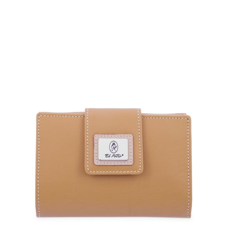 Cartera billetera mujer en piel vacuno color mostaza - Sedalina