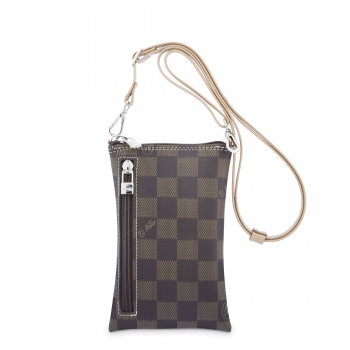 Bolso bandolera funda móvil chess marrón -El Potro