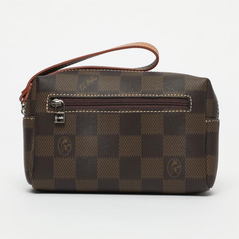 Bolsa de mano Chess marrón-El Potro
