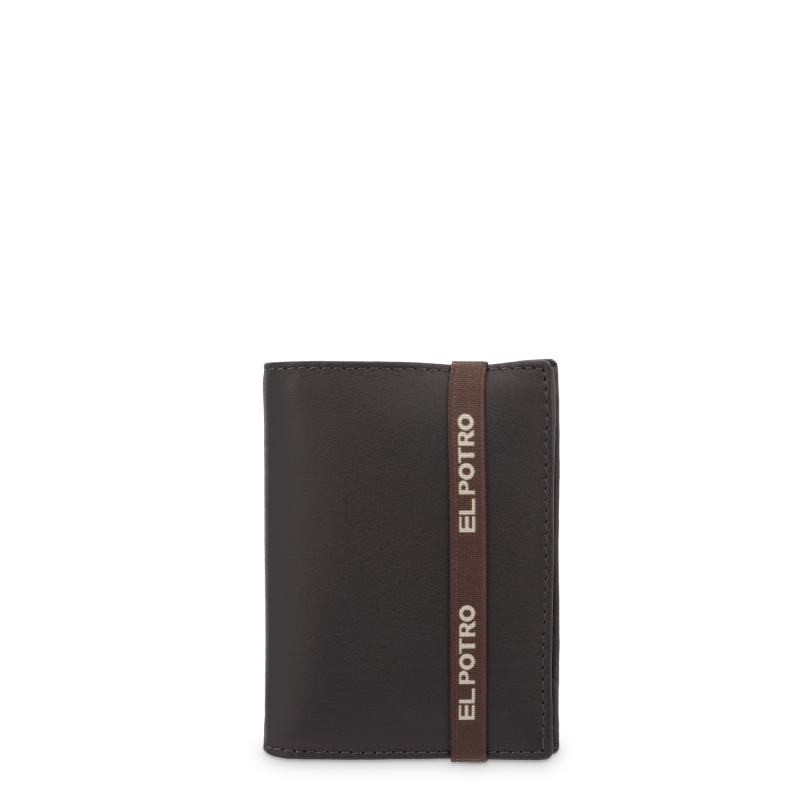Cartera con monedero interior en piel vacuno color marrón-El Potro