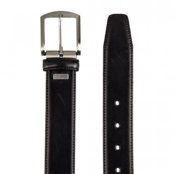 Cinturón hombre en piel vacuno color negro - Box