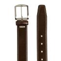 Cinturón hombre en piel vacuno color marrón - Box