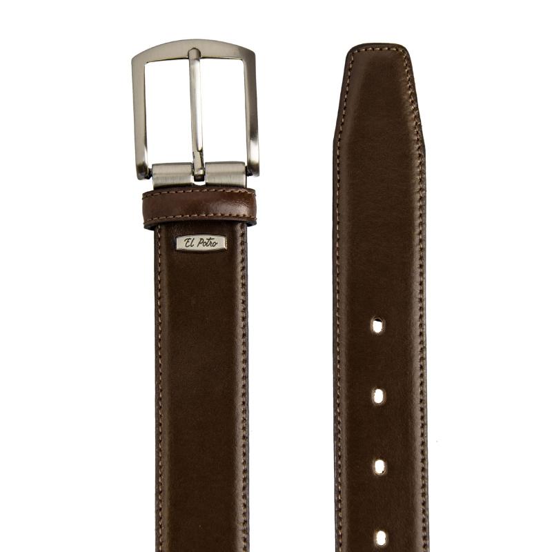 Cinturón piel box marrón El Potro